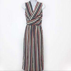Love...ady Striped Culottes Jumpsuit